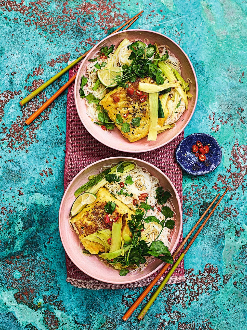 Photo of Vietnamese turmeric fish with noodles by WW