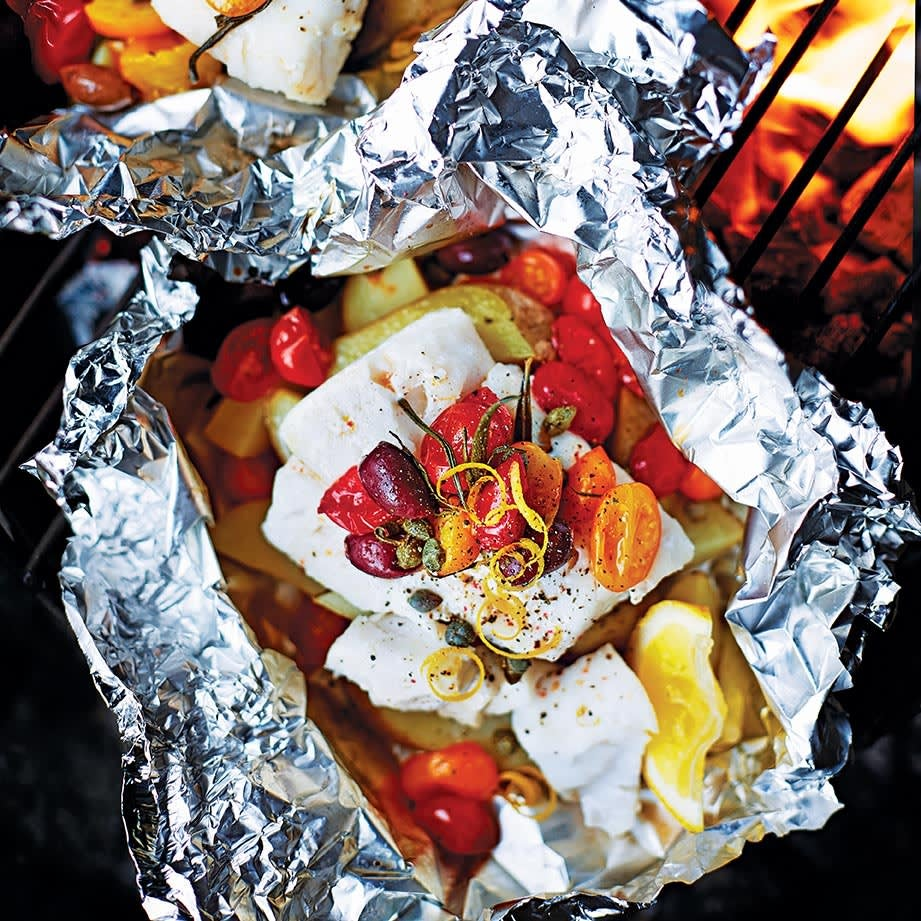 Photo of Barbecue Mediterranean fish parcels by WW
