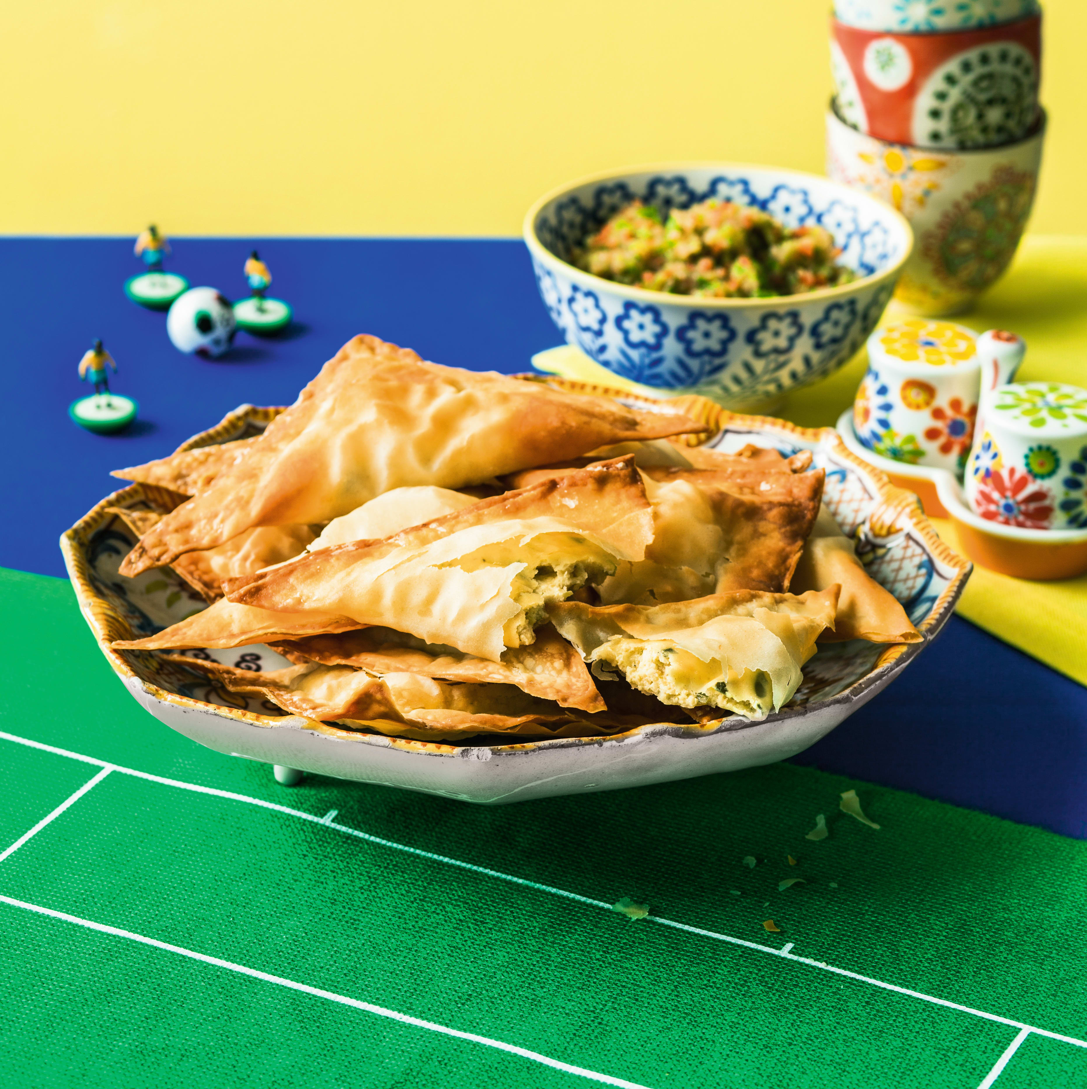 Photo of Empanadas with salsa dip by WW