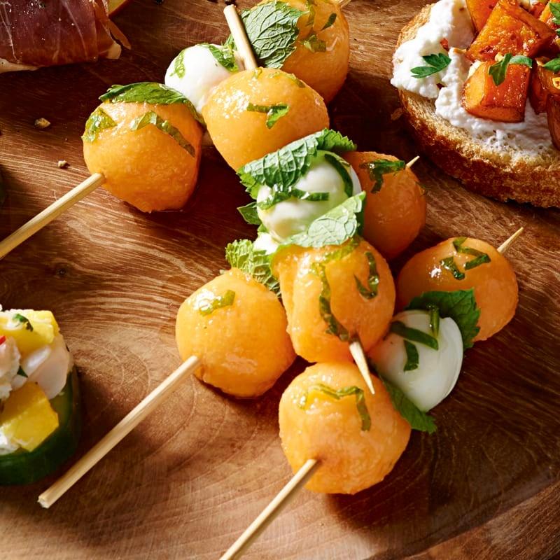 Photo of Melon, mozzarella & mint skewers by WW