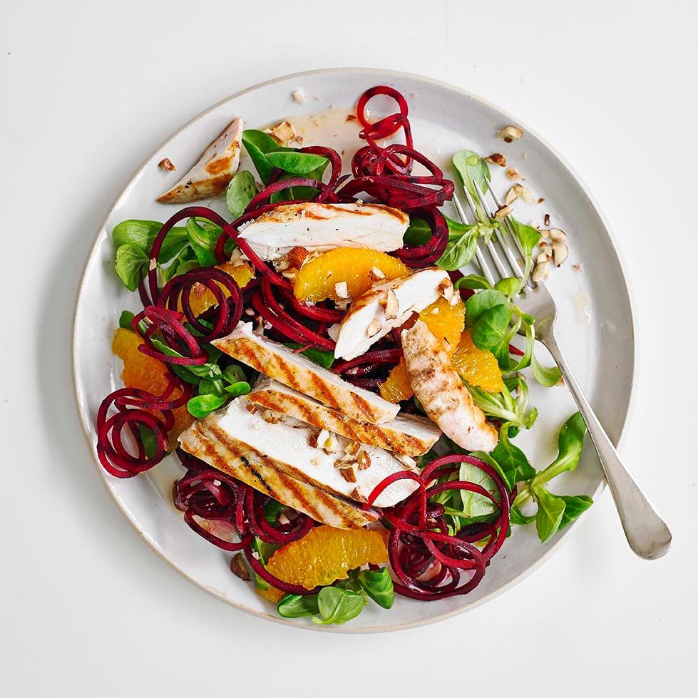 Photo of Beetroot, chicken & orange salad by WW