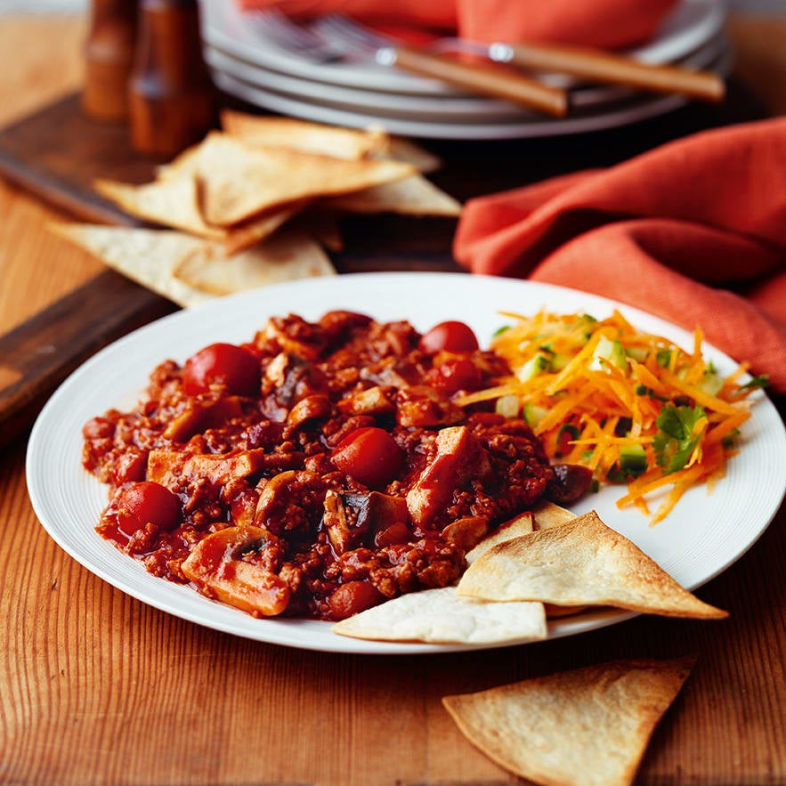Photo of Veggie chilli with baked tortilla chips by WW