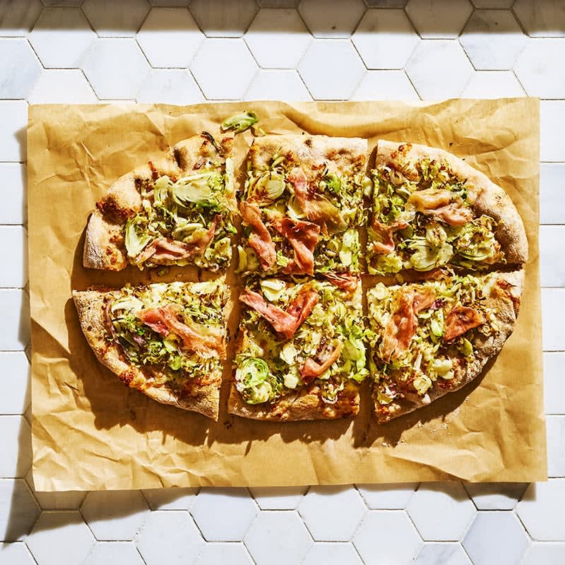 Photo of Brussels sprouts & prosciutto pizza by WW