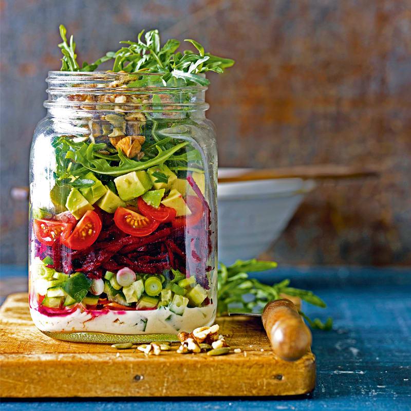 Photo of Vegan salad jar by WW