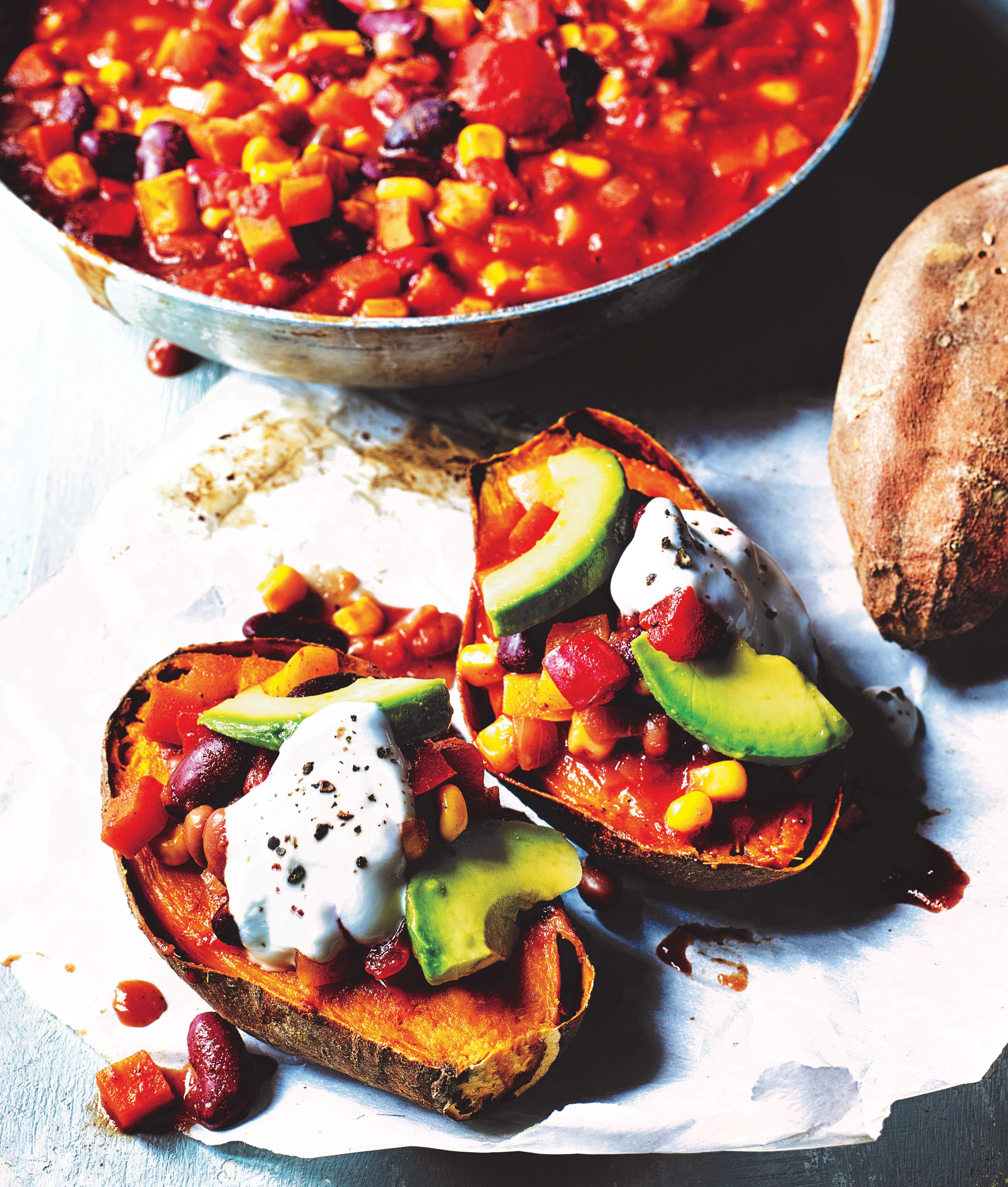 Photo of Baked sweet potatoes with veggie chilli by WW