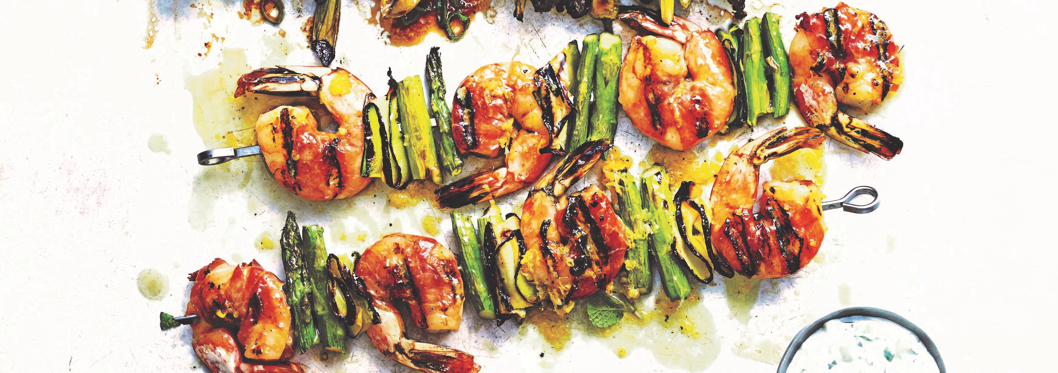 Photo of Prosciutto-wrapped prawn kebabs by WW
