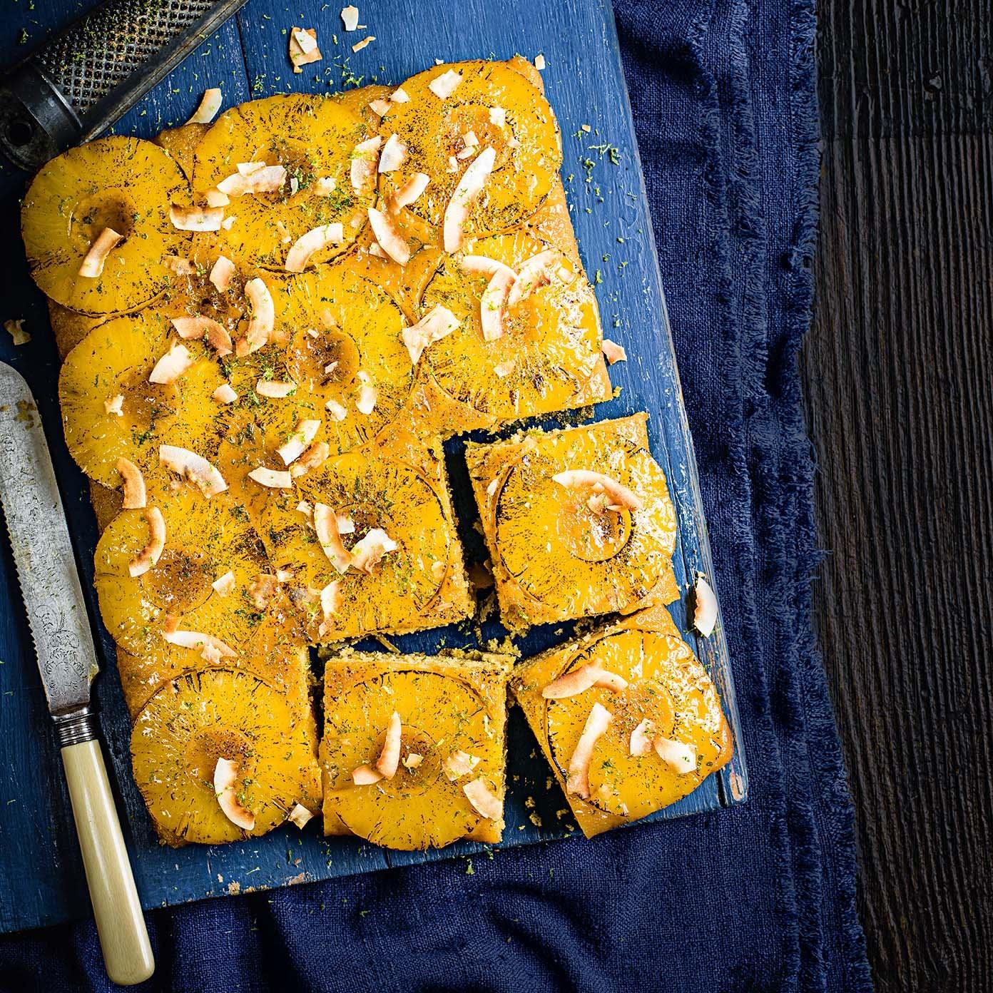 Photo of Piña colada pineapple upside-down cake by WW