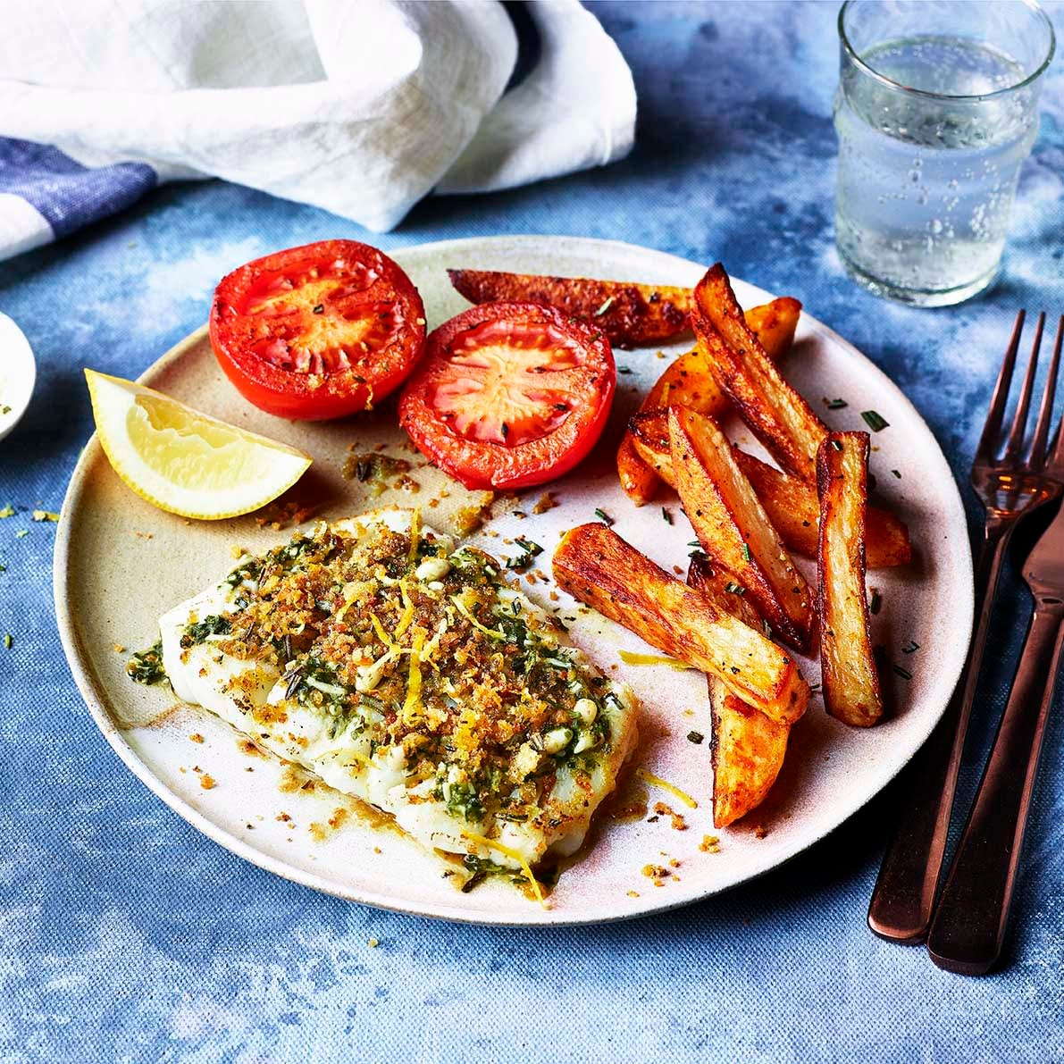 Photo of Lemony fish with herby oven chips by WW