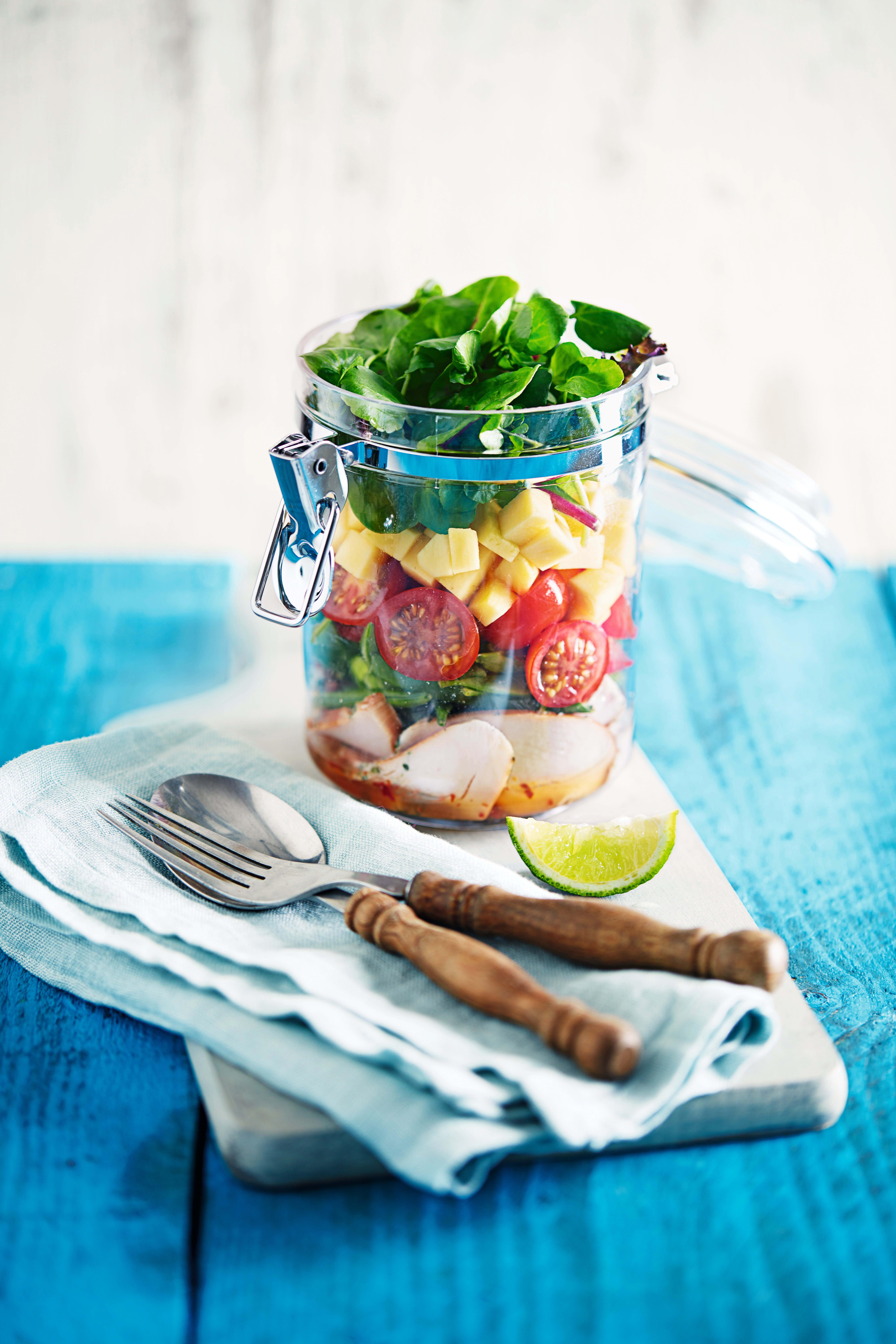 Photo of Smoked chicken & mango salad jar by WW