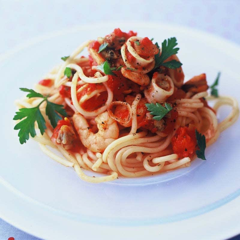 Photo of Spaghetti with seafood sauce by WW