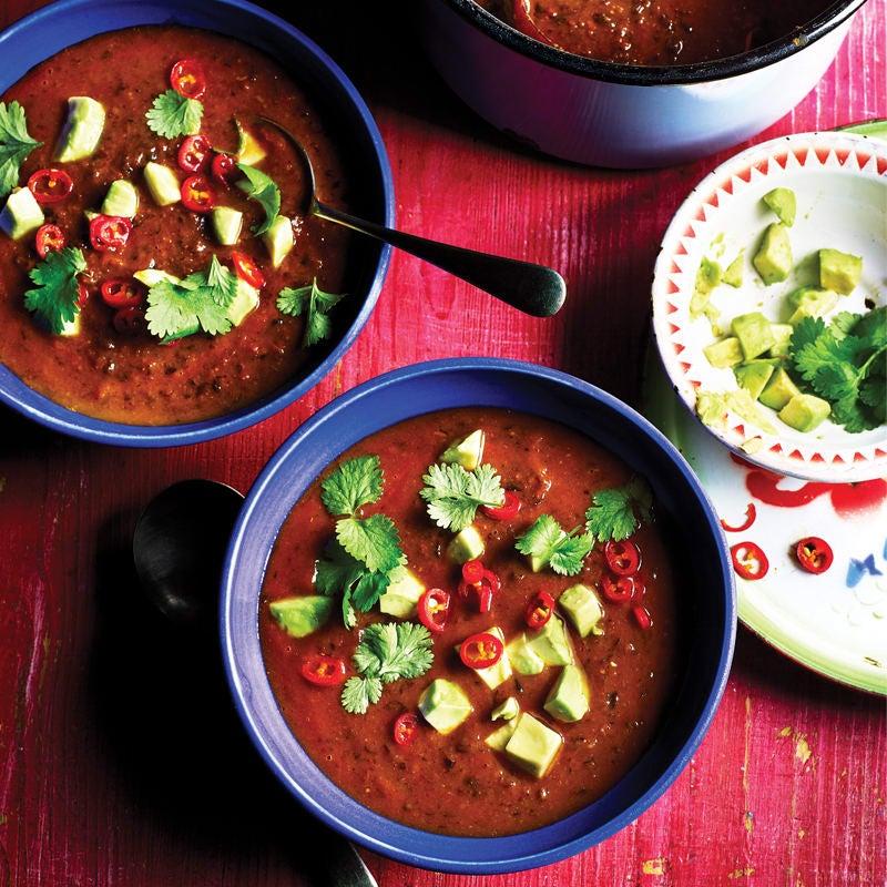 Photo of Smoky black bean & chorizo soup by WW