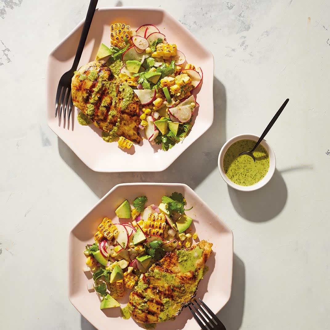 Photo of Marinated chicken, sweetcorn & avocado salad by WW