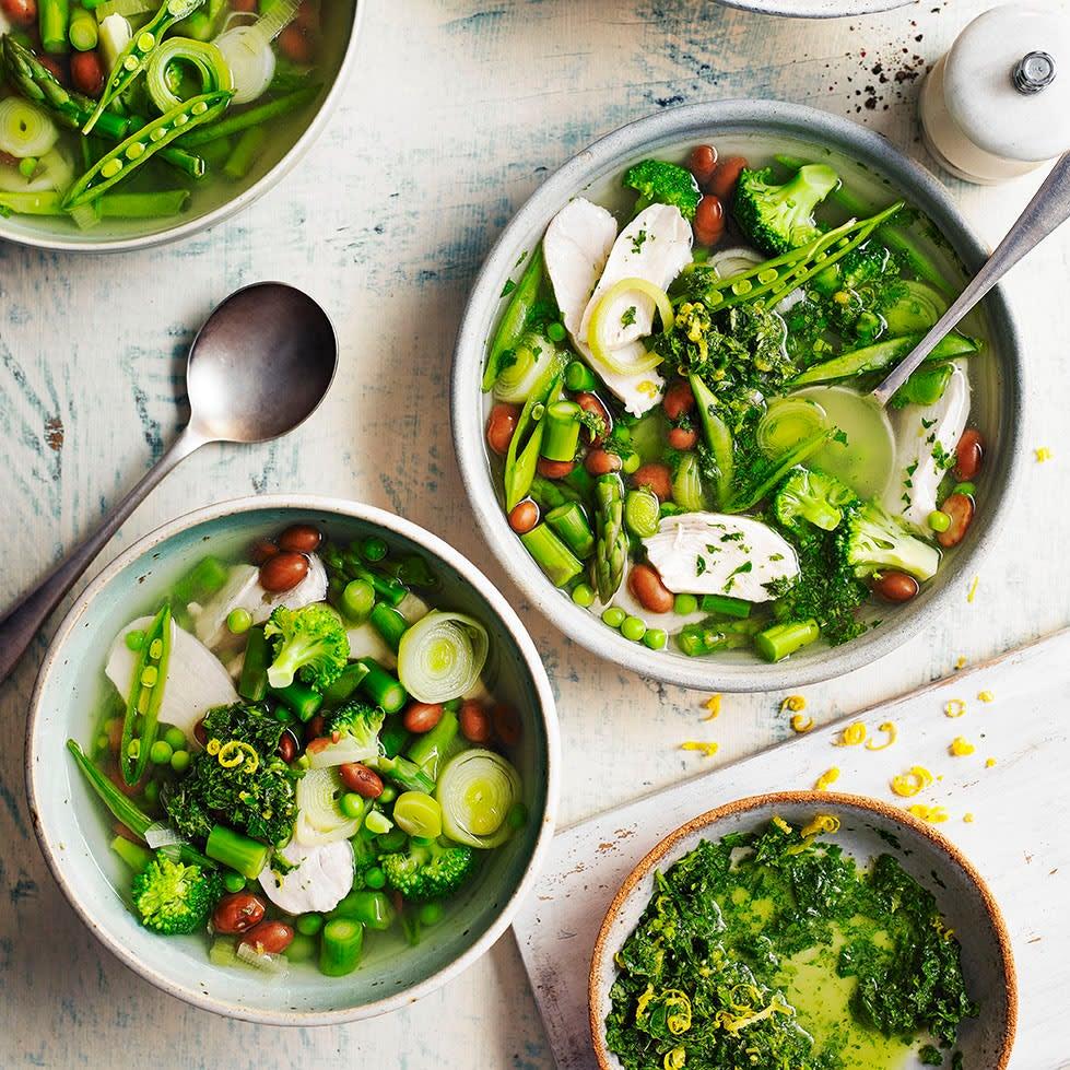 Photo of Chicken, borlotti bean & vegetable soup with pistou by WW
