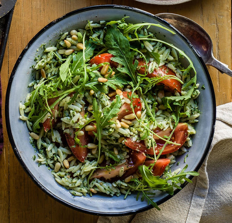 Photo of Orzo pasta with pesto dressing by WW