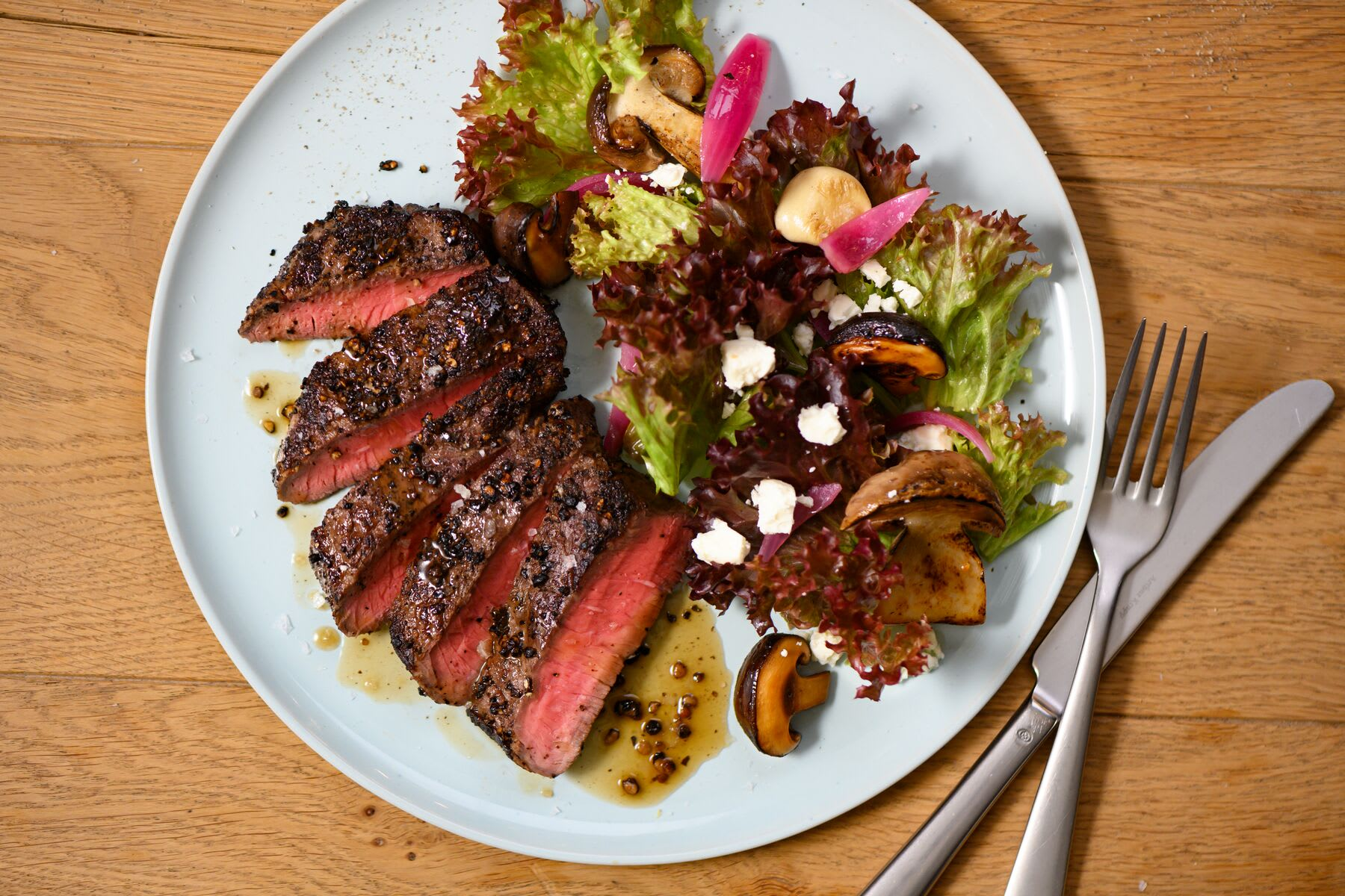 Photo of Steak salad with mushrooms by WW