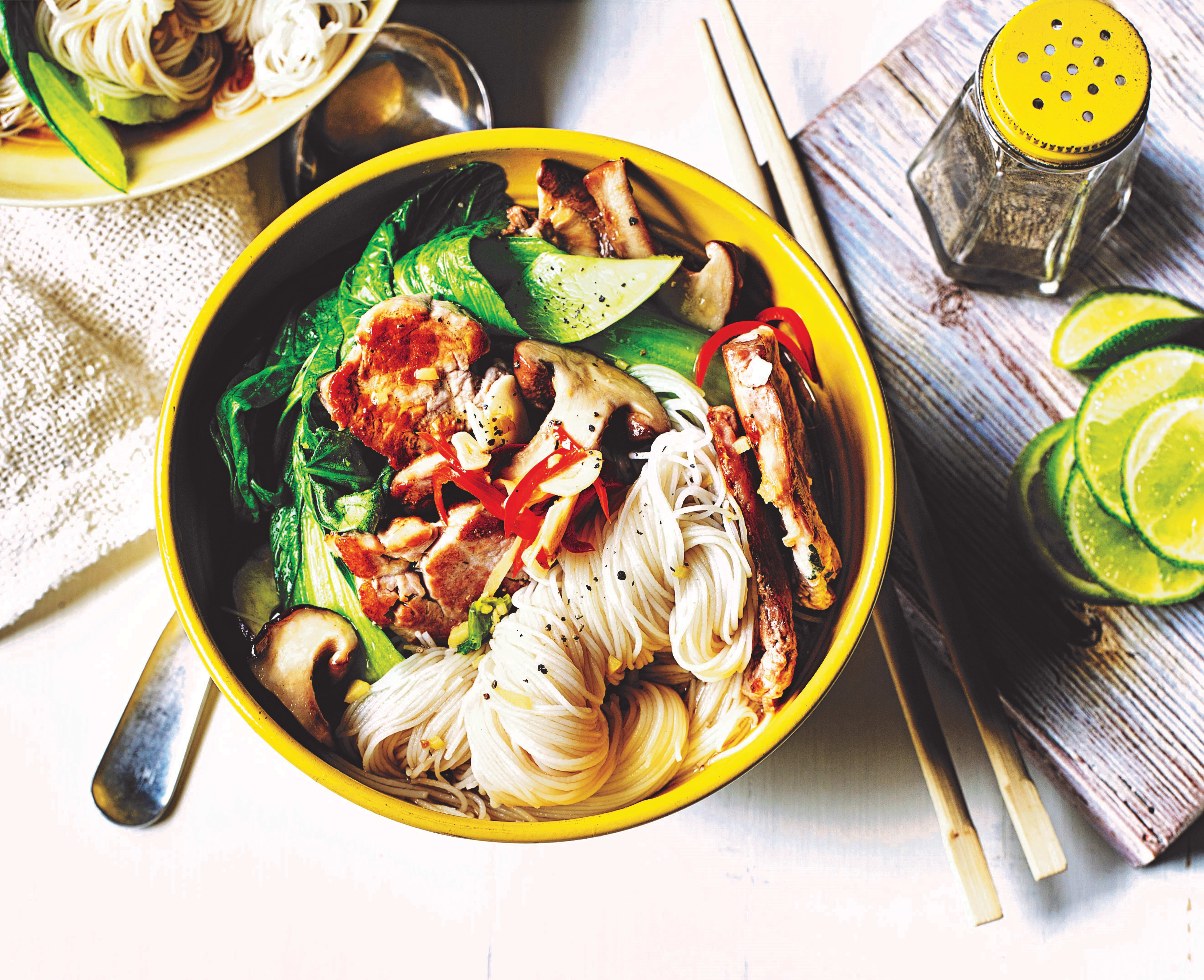 Photo of Asian-style pork noodle bowl by WW