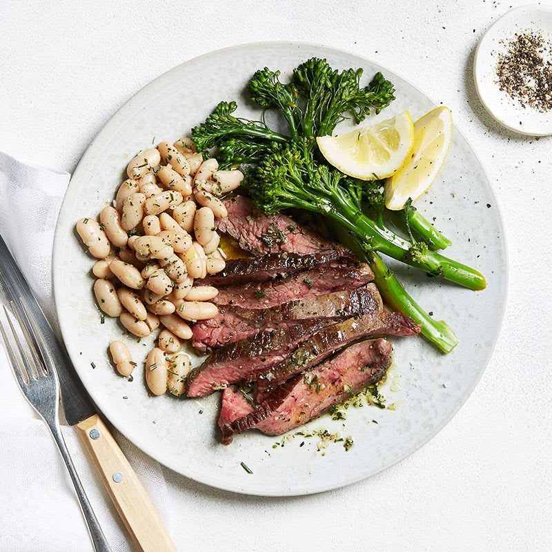 Photo of Tuscan steak with white beans & tenderstem broccoli by WW