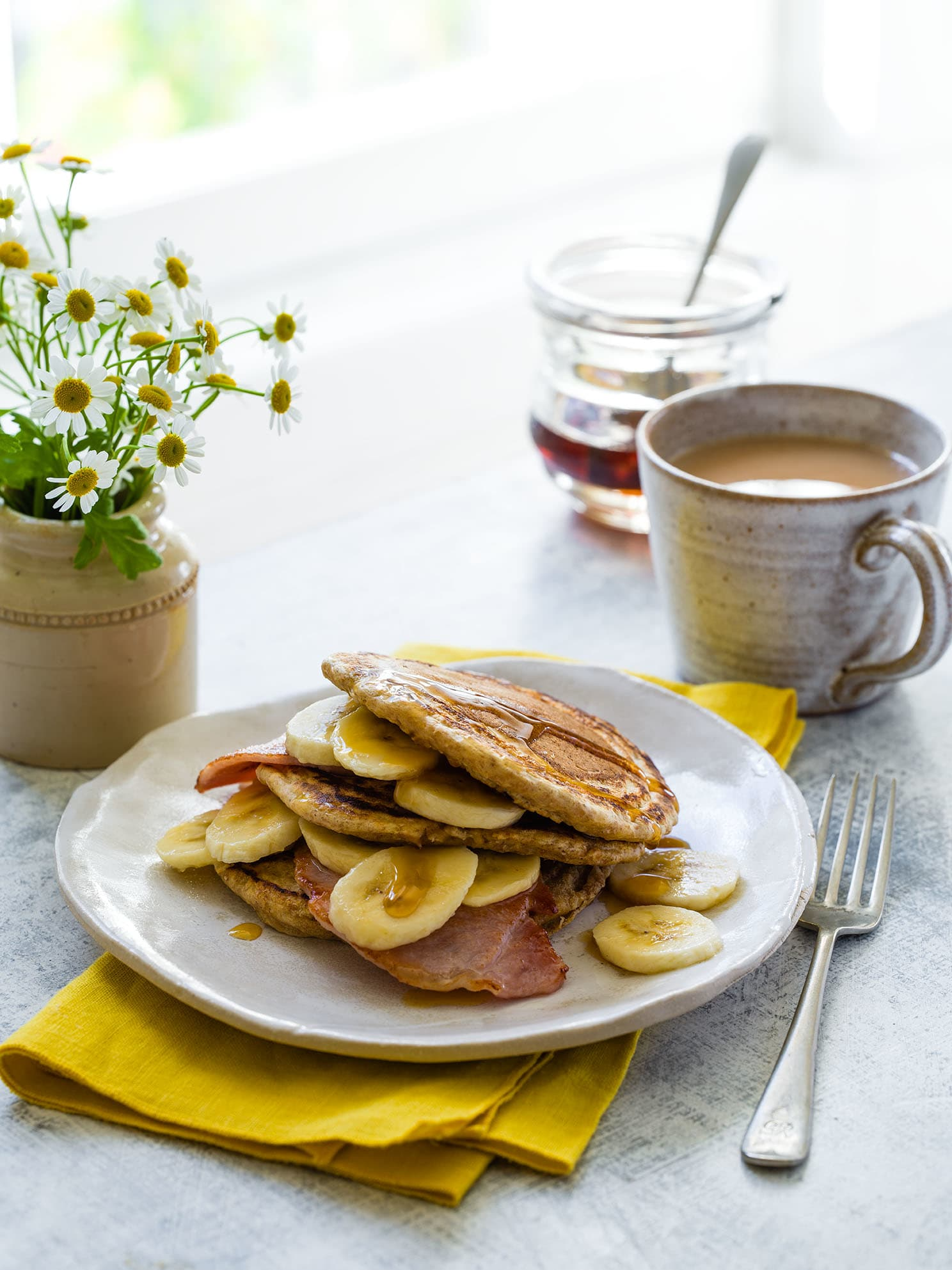 Photo of Pancakes with bacon & bananas by WW