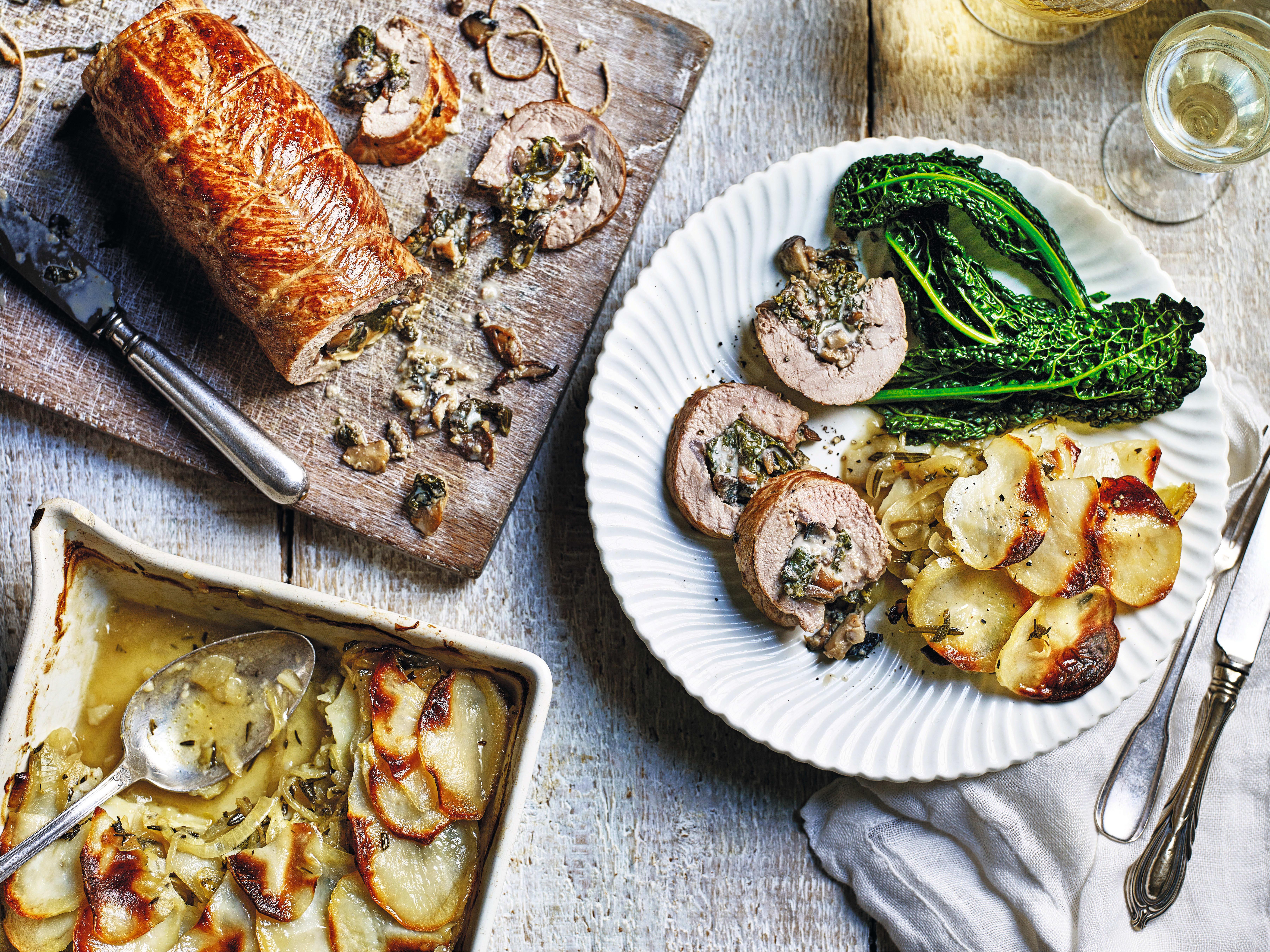 Photo of Wild mushroom & spinach stuffed pork loin by WW