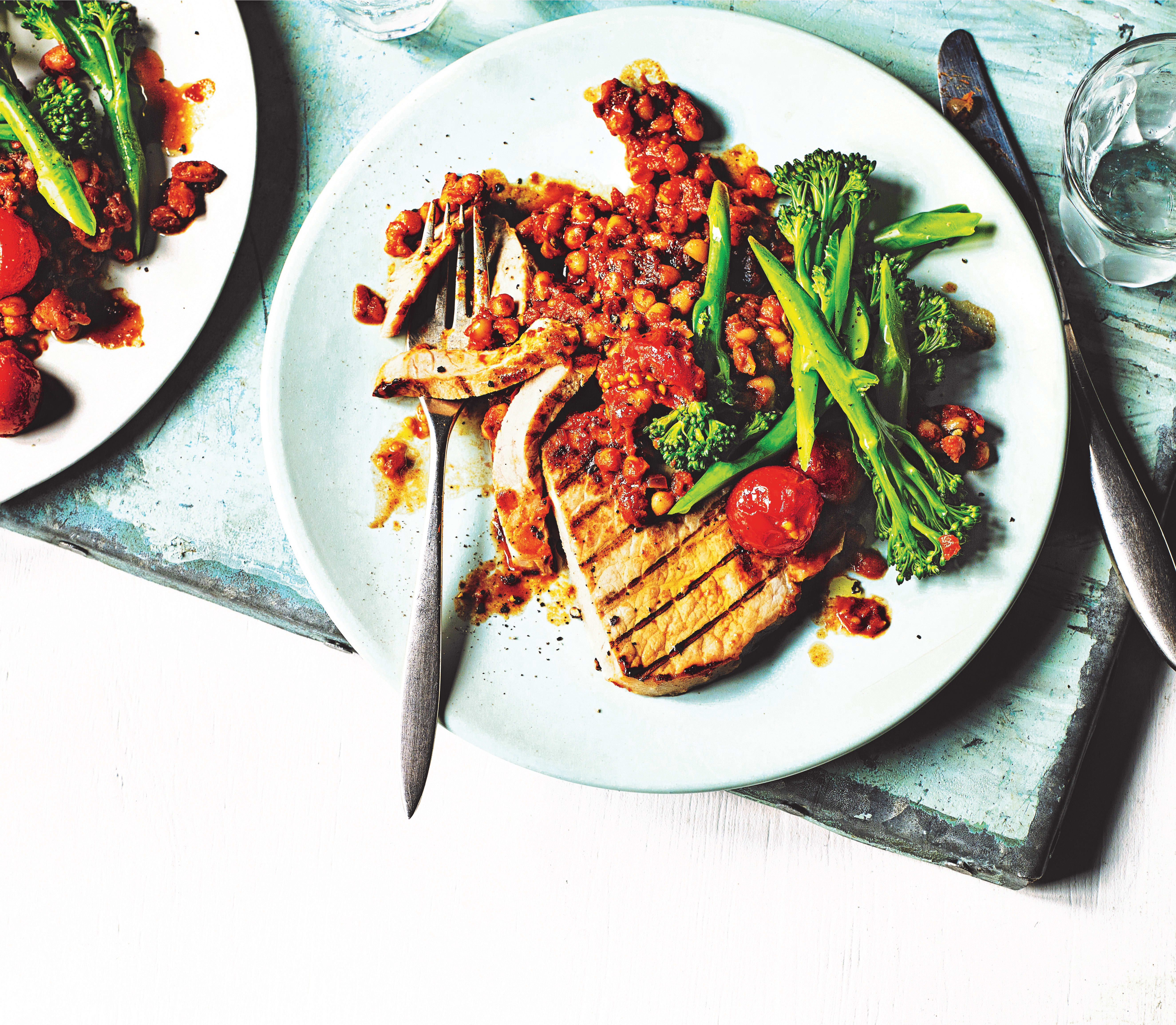 Photo of Griddled pork with smoky baked beans by WW