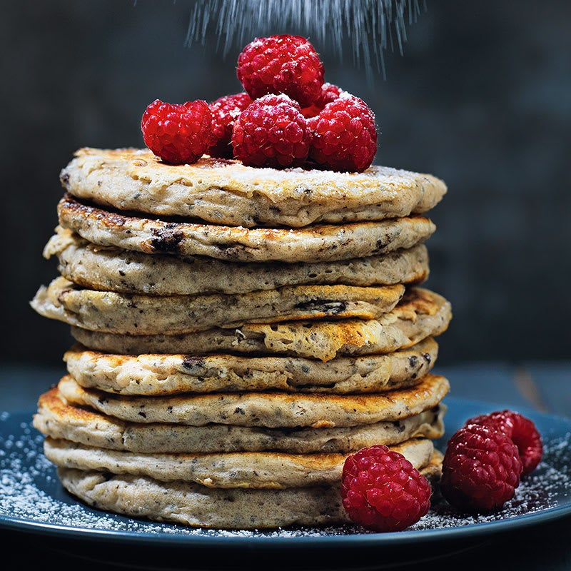 Photo of Chocolate chip & chia seed pancakes by WW