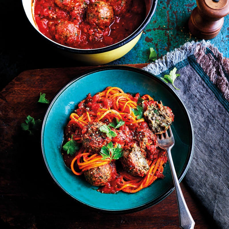 Photo of Veggie meatballs with carrot 'spaghetti' by WW