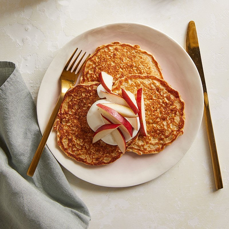 Photo of Oat pancakes with yogurt & pear by WW