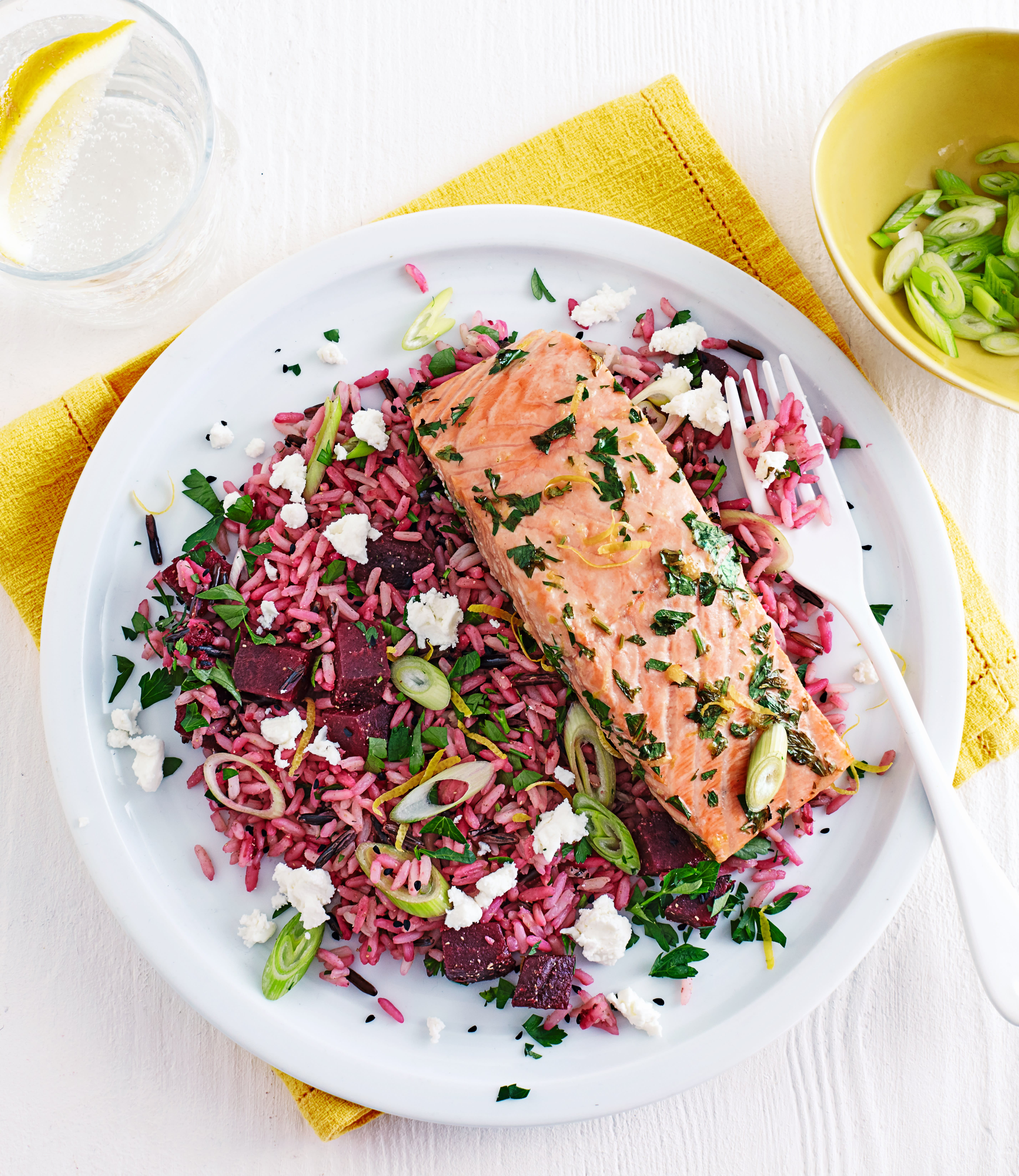 Photo of Roast salmon with beetroot pilaf by WW