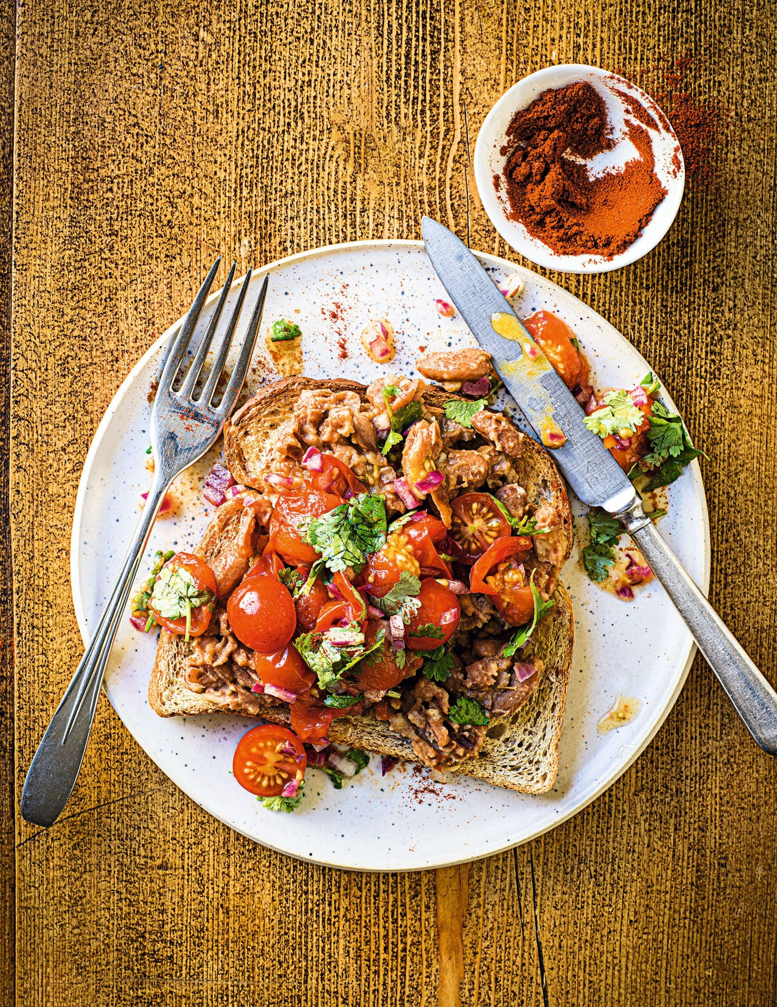 Photo of Tex-Mex tomatoes on toast by WW