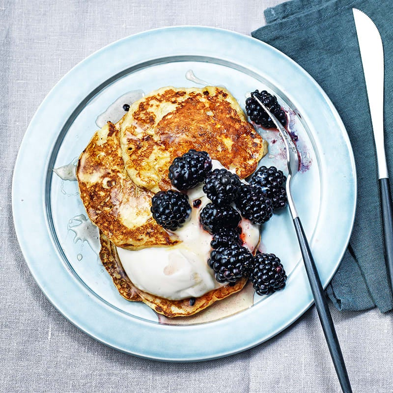 Photo of 2-ingredient pancakes by WW