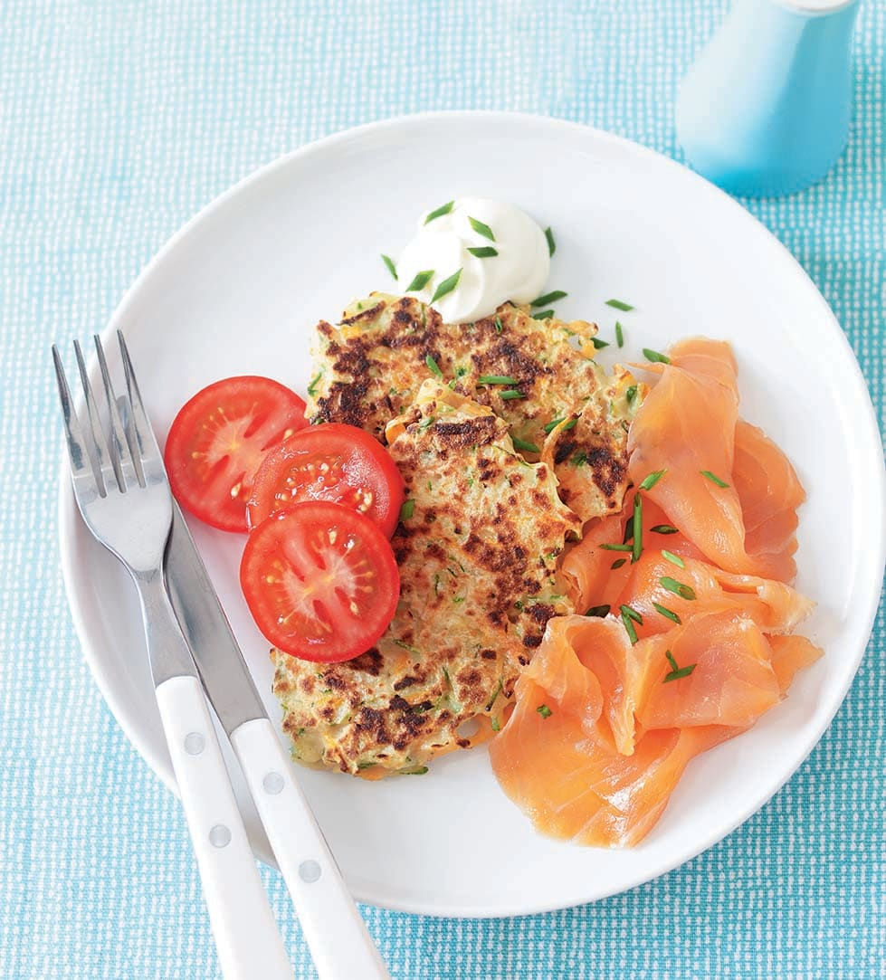 Photo of Courgette Fritters with Smoked Salmon by WW