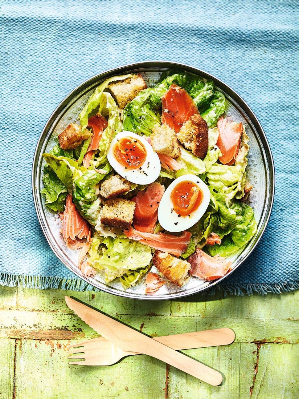 Photo of Hot smoked salmon Caesar salad by WW
