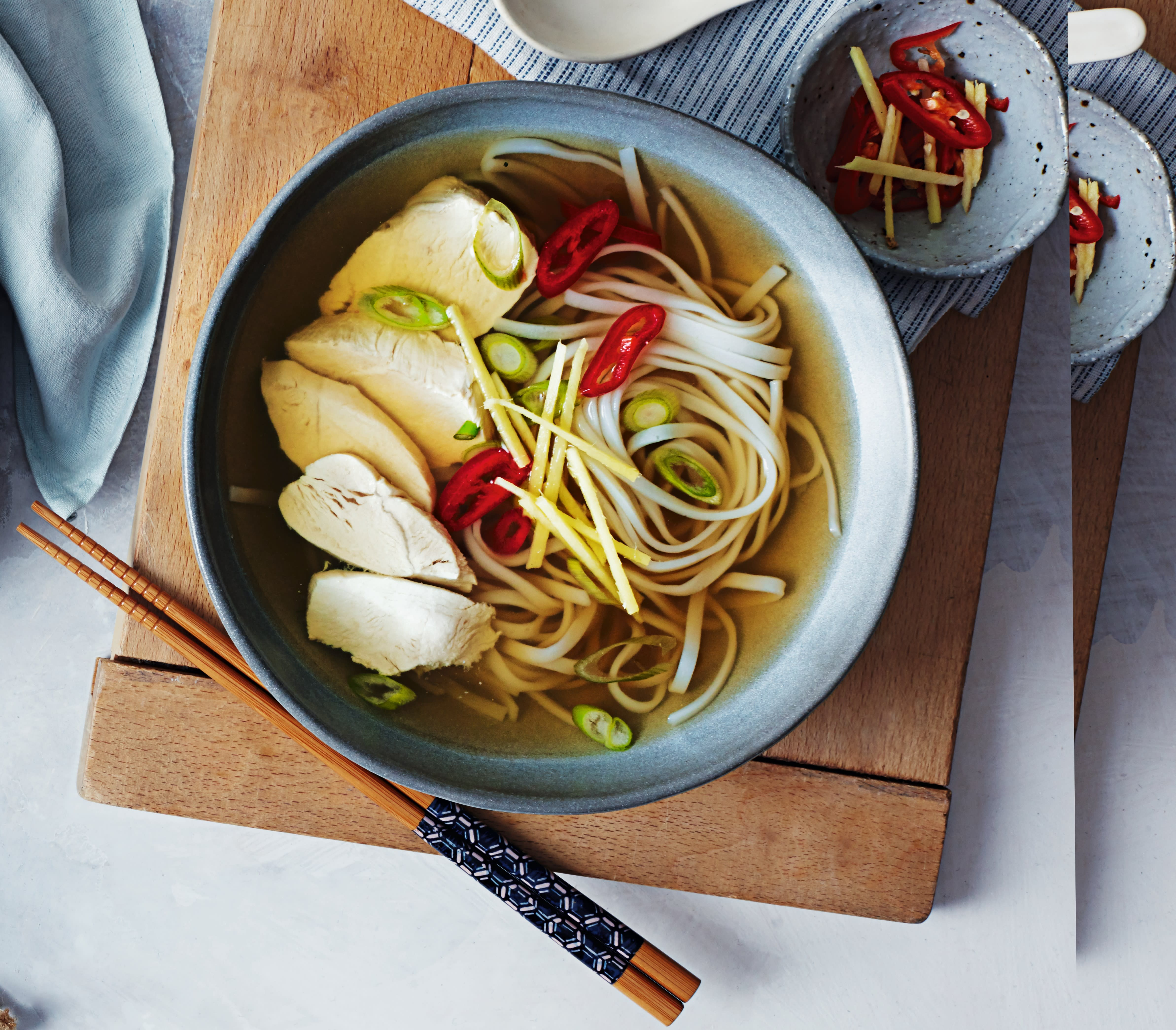 Photo of Chicken & ginger broth with noodles by WW