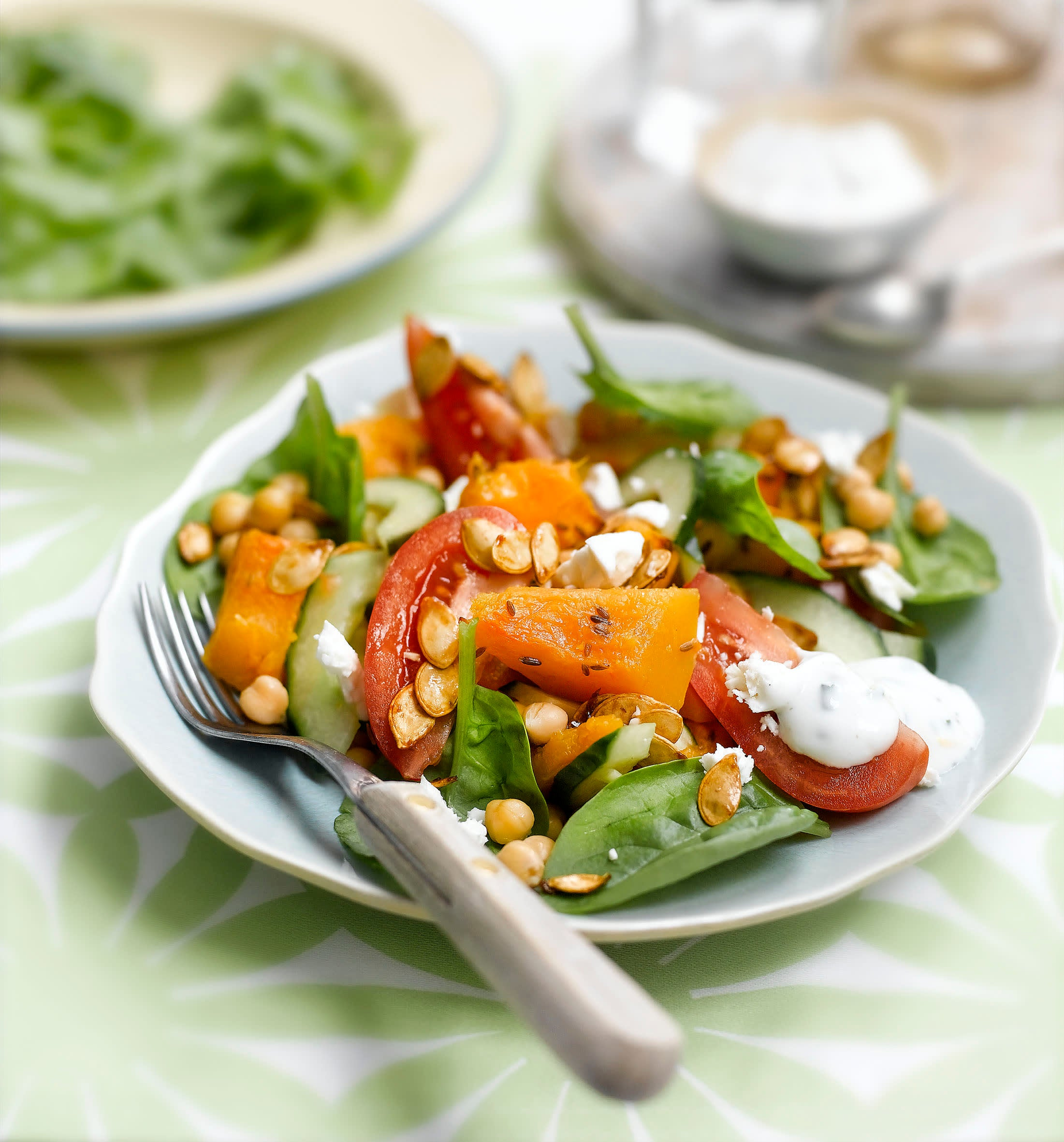 Photo of Roasted pumpkin & feta salad with soy-roasted seeds by WW