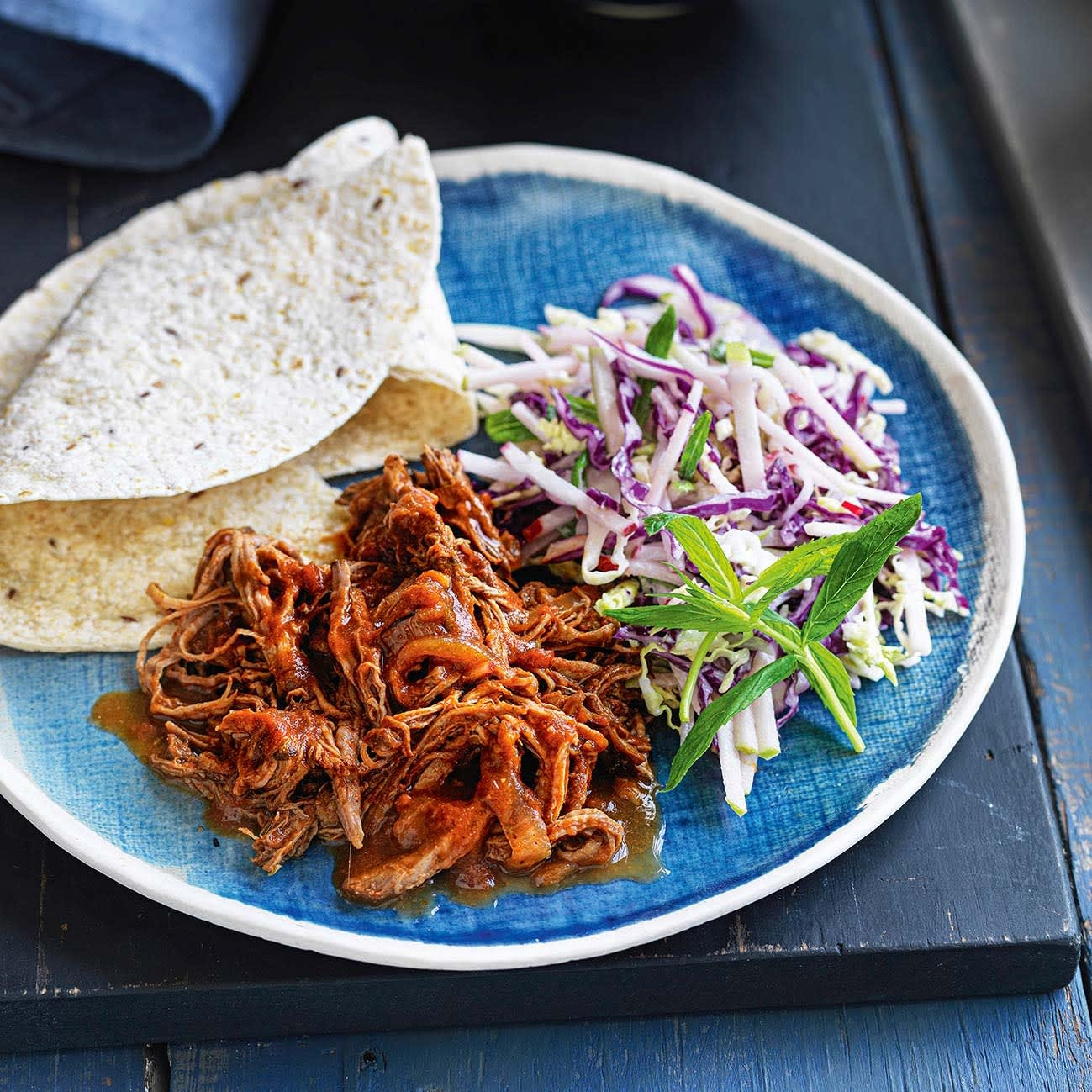 Photo of American pulled beef with apple slaw by WW