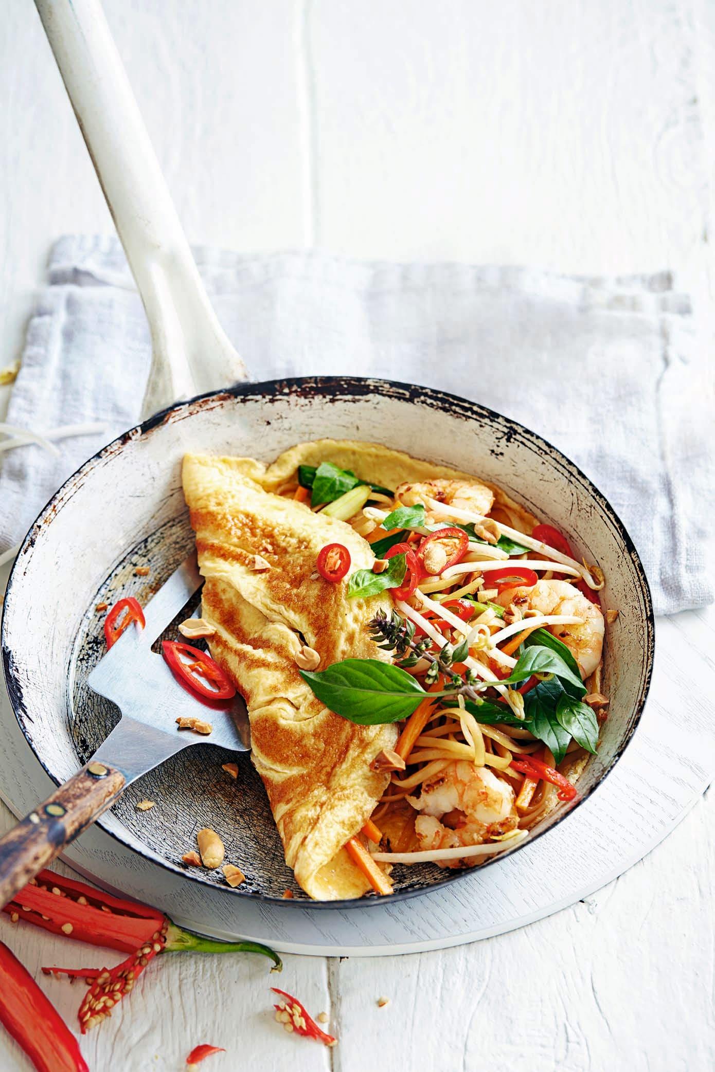 Photo of Prawn pad Thai omelette by WW
