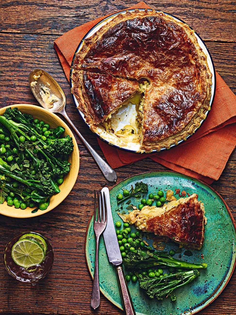 Photo of Cheese & onion pie with minted greens by WW