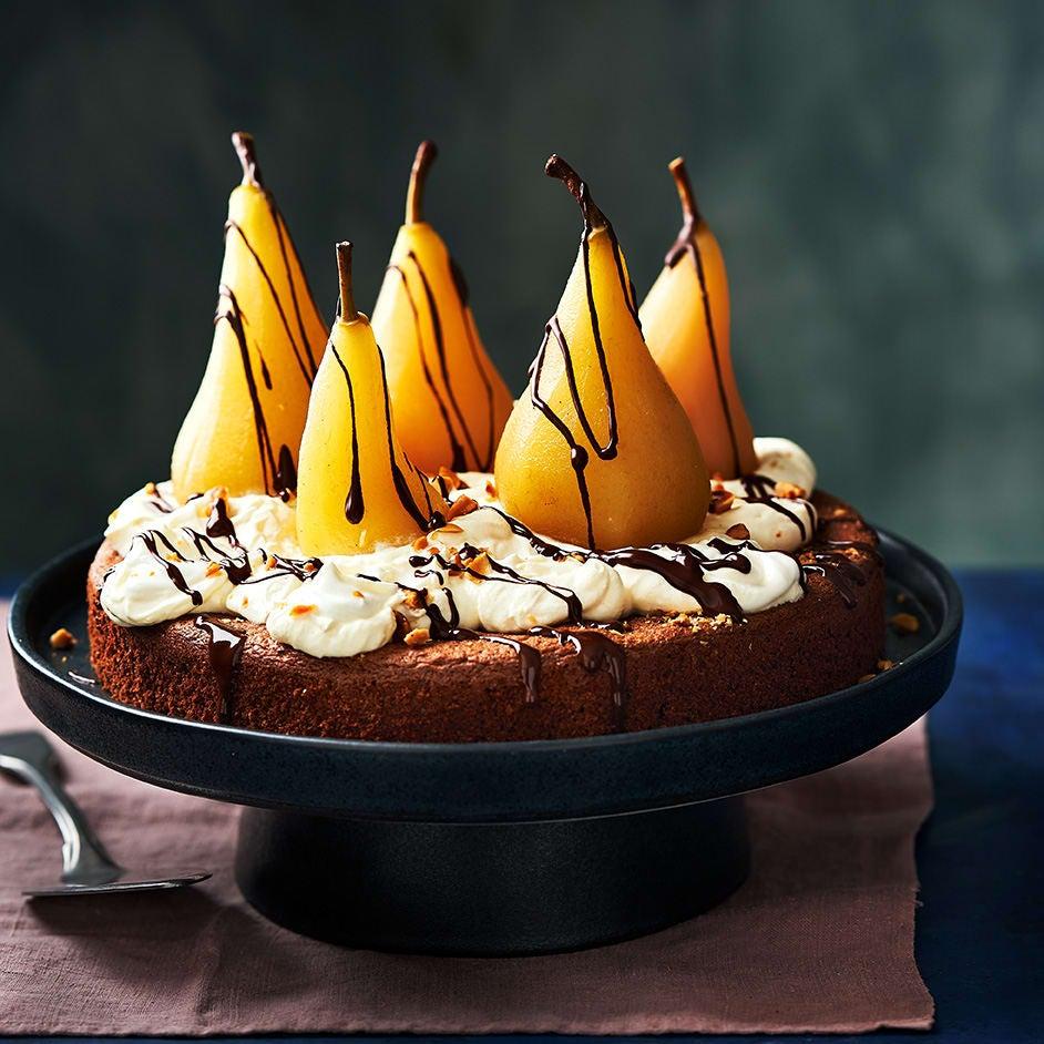 Photo of Chocolate, pear & hazelnut torte by WW
