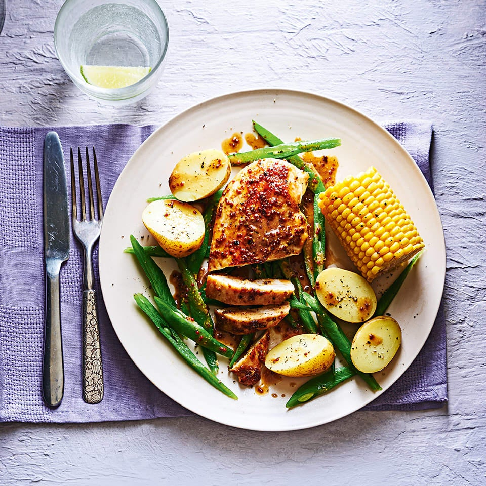 Photo of Honey mustard chicken with potatoes & beans by WW