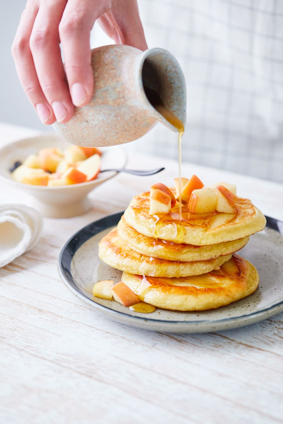 Photo of Apple & cinnamon pancakes by WW