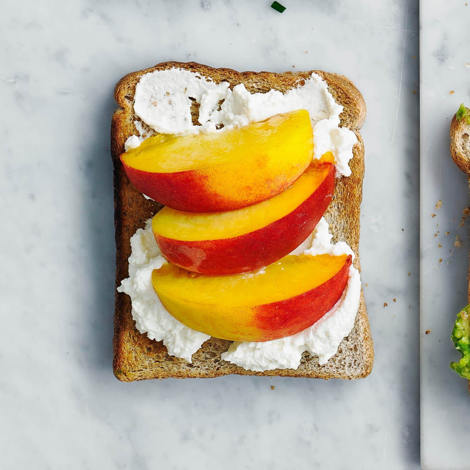 Photo of Ricotta & peach toast topper by WW