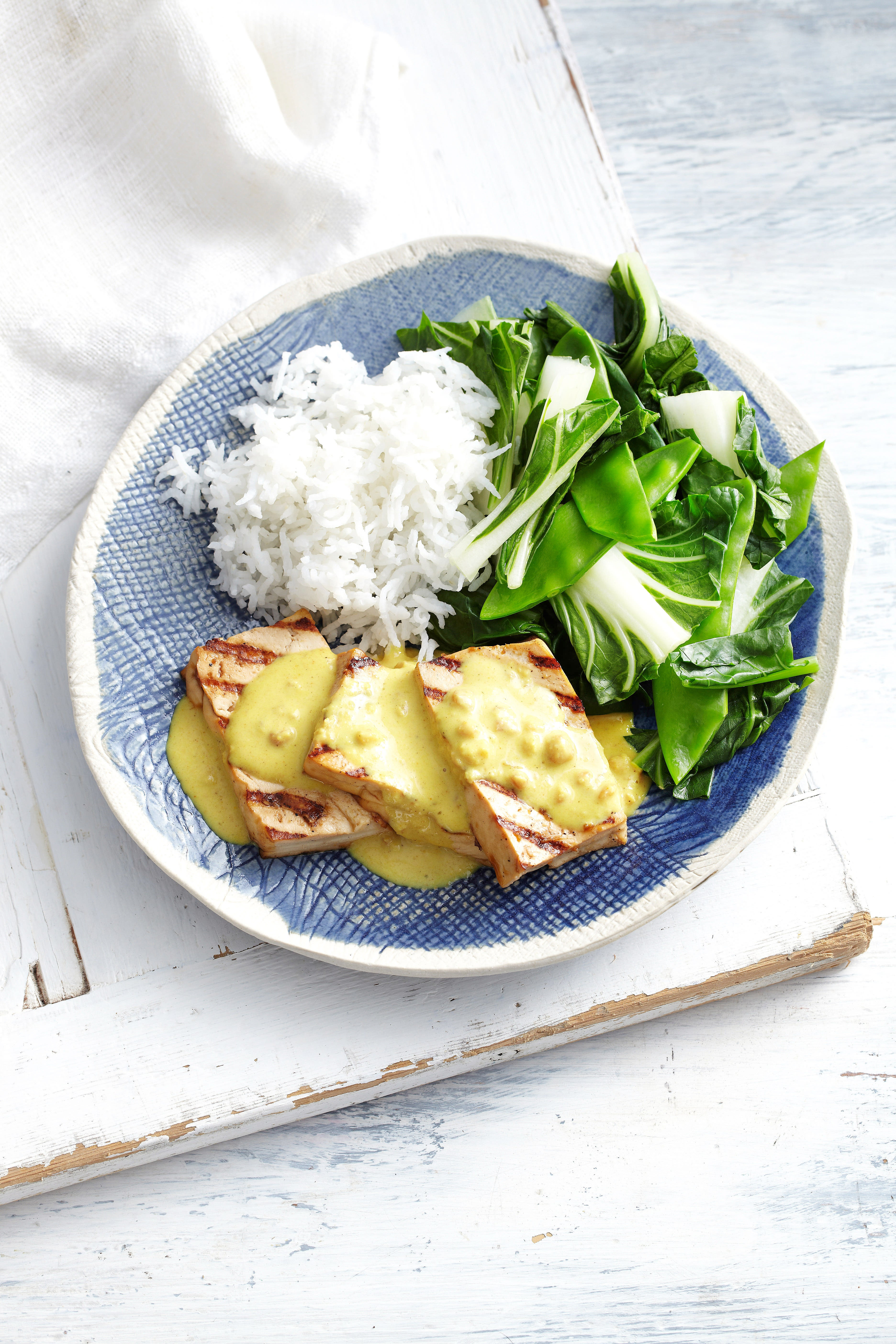 Photo of Griddled tofu steaks with satay sauce by WW