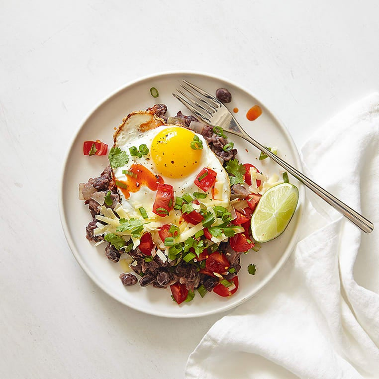 Photo of Mexican-style black beans & eggs by WW