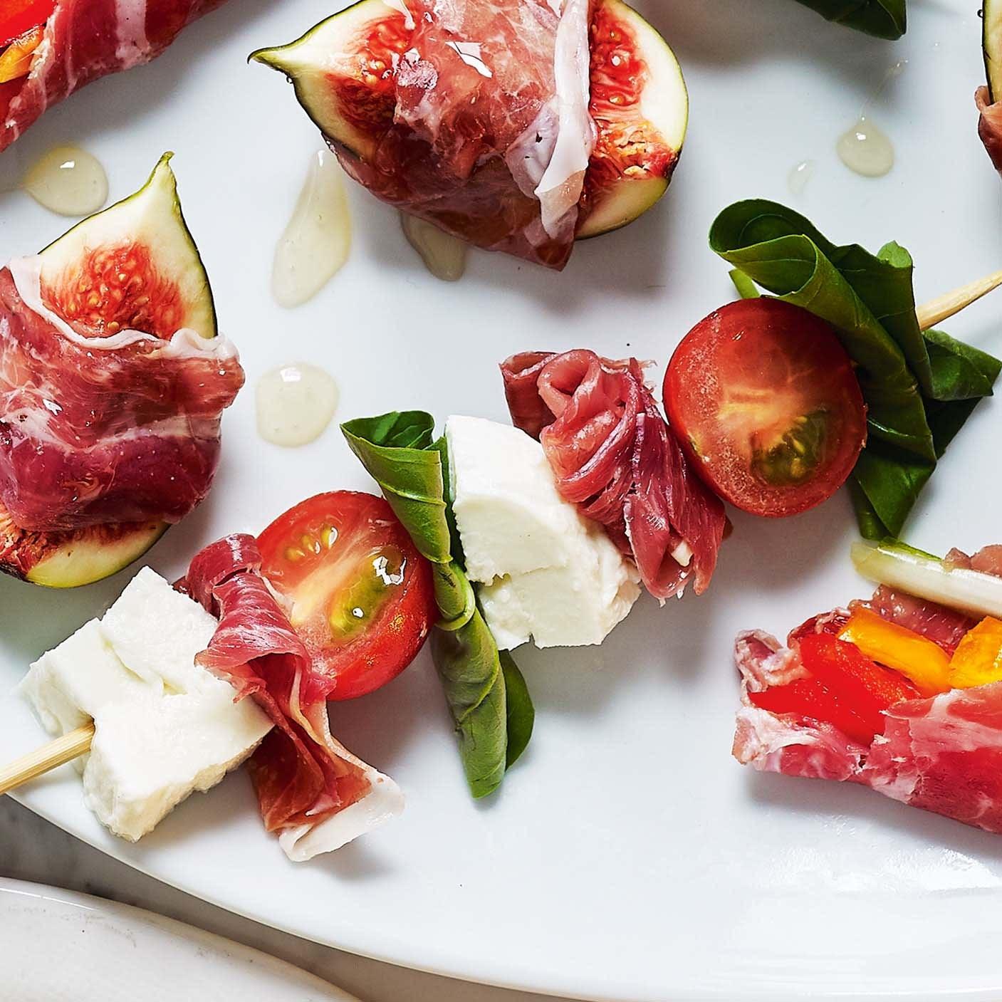 Photo of Parma ham, tomato & mozzarella skewers by WW