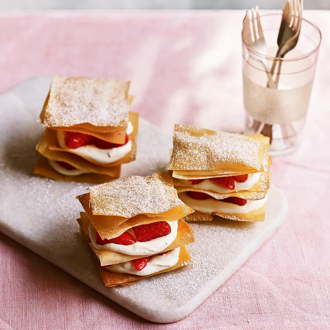 Photo of Strawberry & rose mille-feuilles by WW