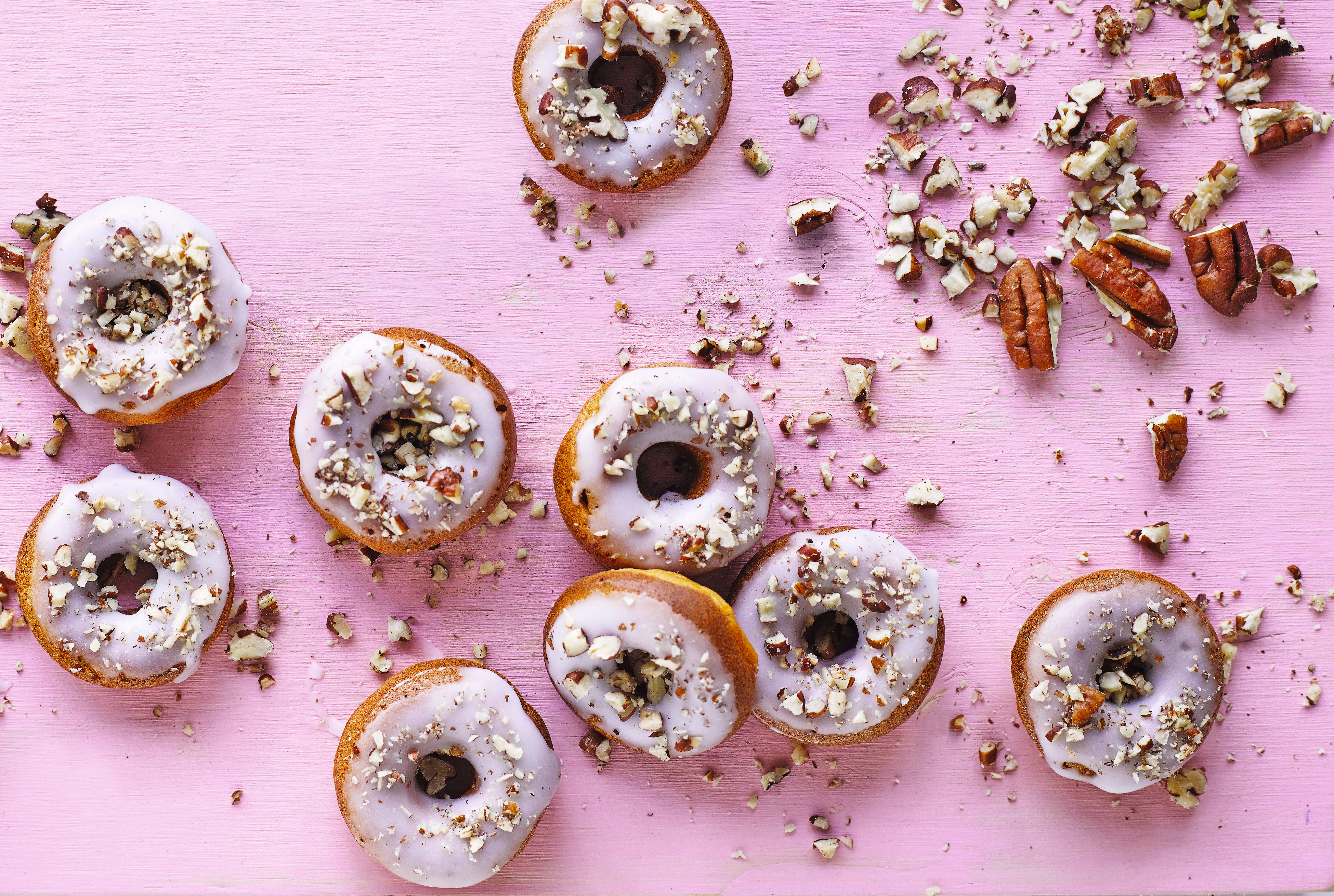 Photo of Sweet potato baked doughnuts with pecan topping by WW