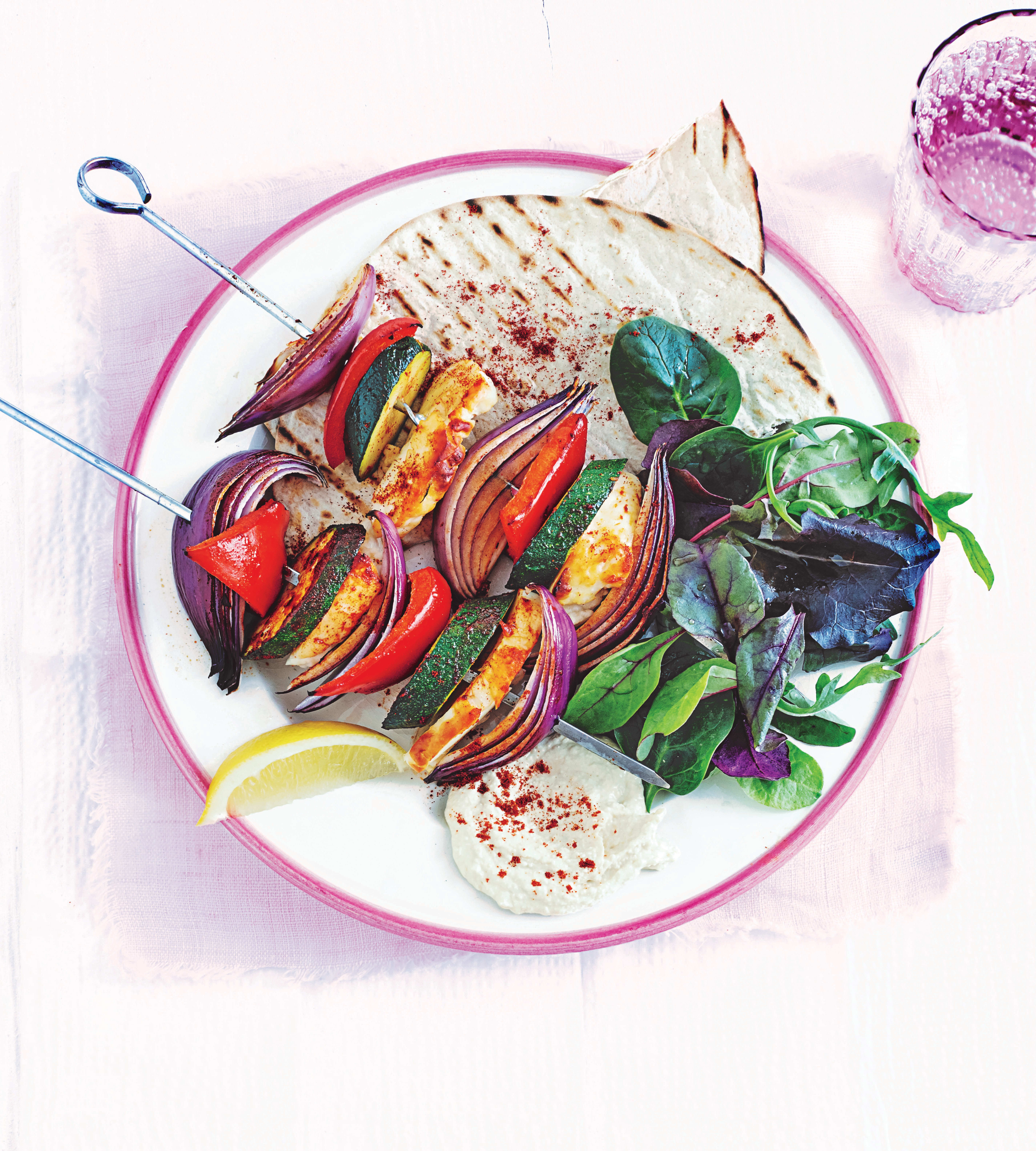Photo of Halloumi & vegetable skewers by WW