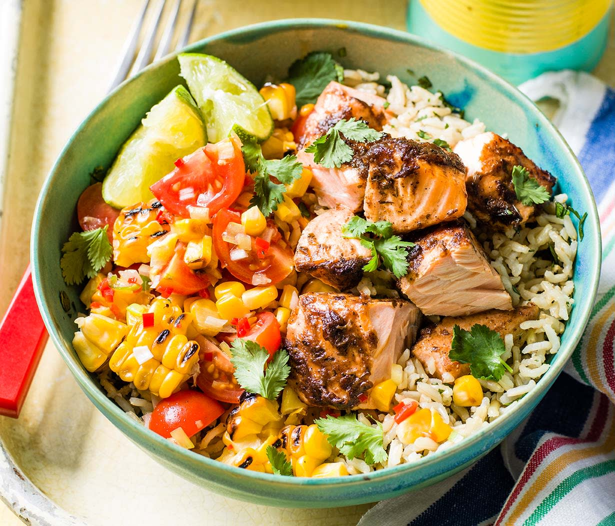 Photo of Caribbean-style salmon bowl by WW