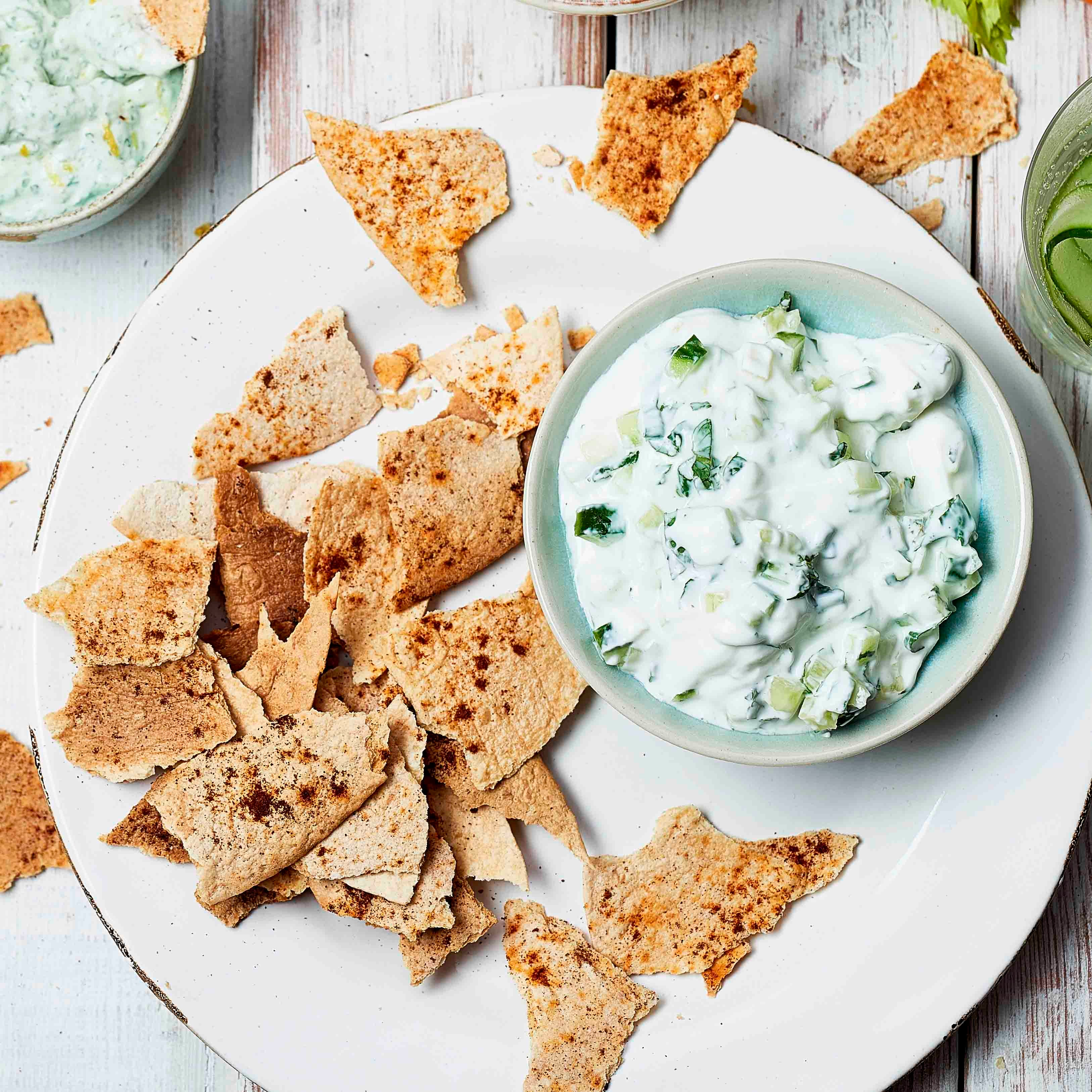 Photo of Cucumber & mint dip with spiced tacos by WW