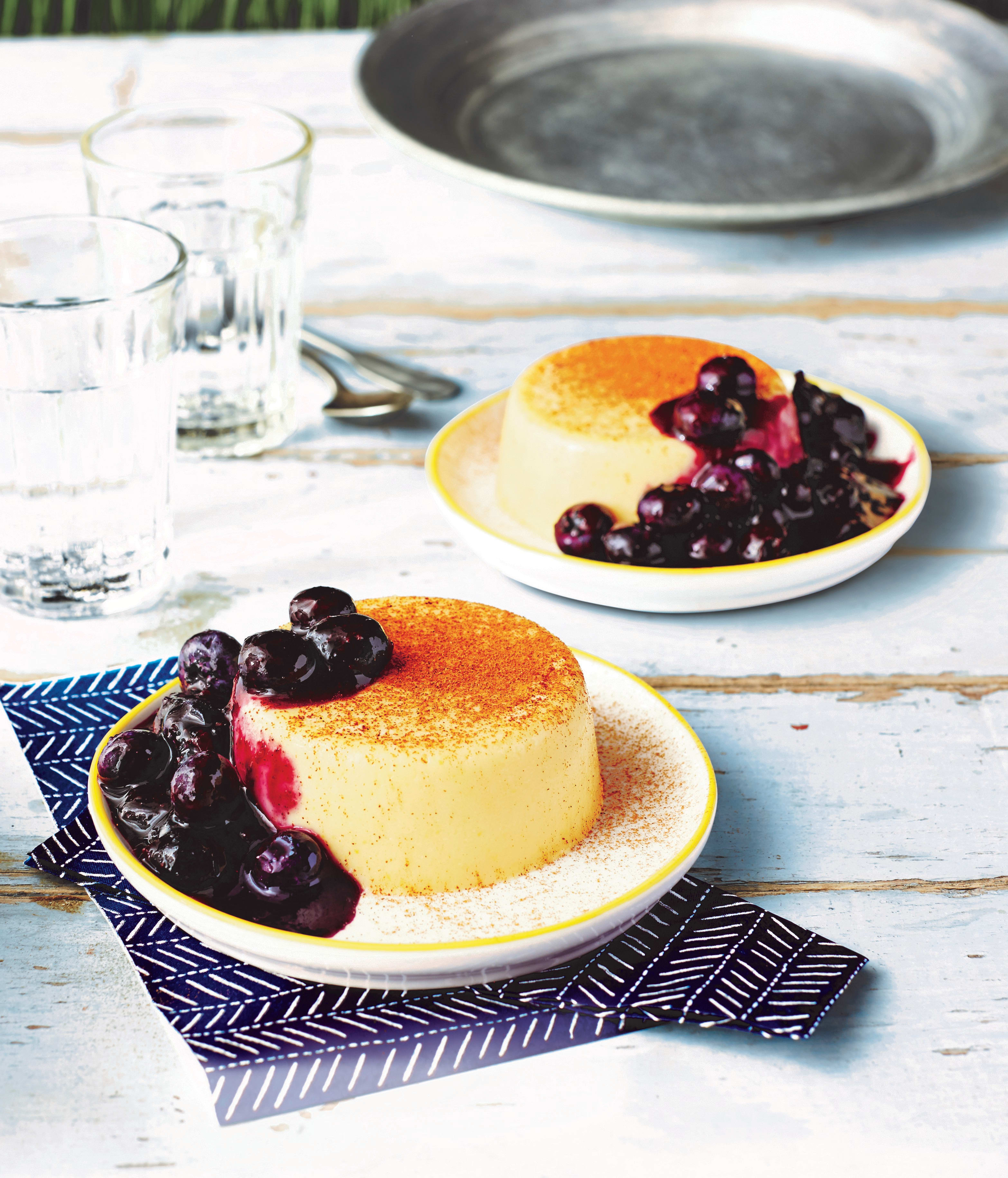 Photo of Corn panna cotta with fresh blueberry sauce by WW